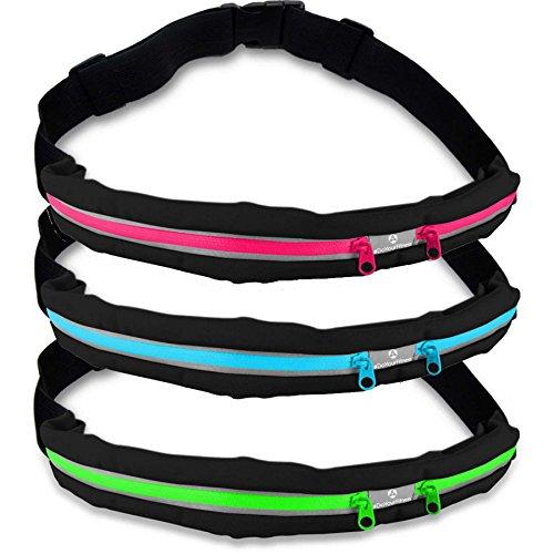 Laufgurt »Run4Fun« Stilvolle Gürteltasche / Bauchtasche / Lauftasche für Laufen, Wandern, Klettern, Reiten - 3x Farben / Handys bis ca. 5,5Zoll / elastisch wasserdicht & festsitzend ! Pink