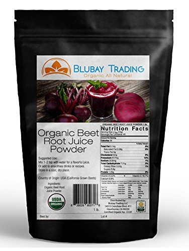 1 lb. ORGANIC BEET ROOT JUICE POWDER - MADE IN USA - DISSOLVES IN WATER
