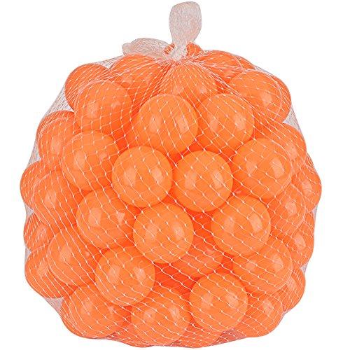 Lightaling 100pcs Ocean Balls Soft Plastic Pit Balls Orange
