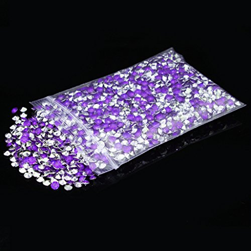 4.5mm pack of 10000pcs Acrylic Crystal Diamond For Vase Fillers, Party Table Scatter, Wedding, Photography, Party Decoration, Crafts DIY Project - purple & - Silver Purple