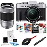 Fujifilm X-T20 Camera Body w/ XF18-55mm Lens Kit (Silver) w/Editing Software & 32GB Card Kit