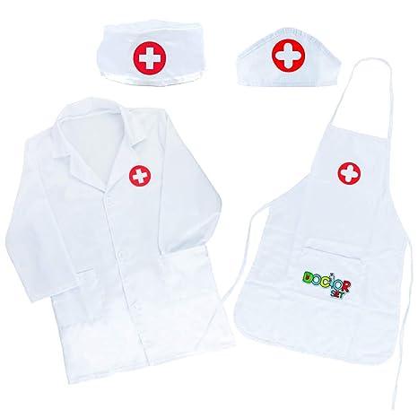 Akokie Juguete de Doctora Enfermera Disfraz Cosplay de Médico Juego de rol Regalos Disfraz Medico Niño