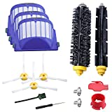 10PCS 600 Series Replenishment Kit For iRobot Roomba 610 614 620 630 640 645 650 655 660 680 Robotic Vacuum Cleaner,Replacement parts with 3pcs Hepa filters and Side Brushes,2 Pair Debris Extractors