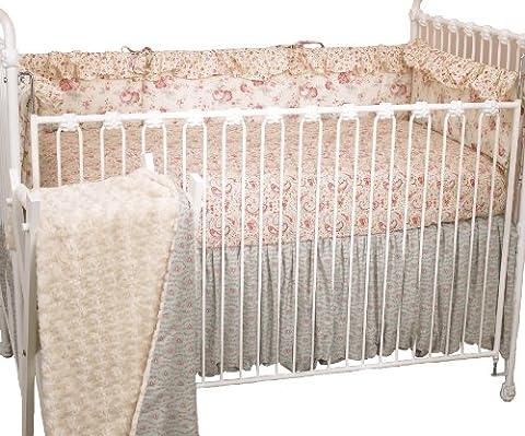 Cotton Tale Designs 4 Piece Crib Bedding Set, Tea Party (Cotton Tale Tea Party Bedding)