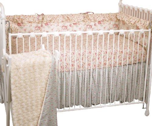 Cotton Tale Designs 4 Piece Crib Bedding Set, Tea Party - Vintage 4 Piece Crib