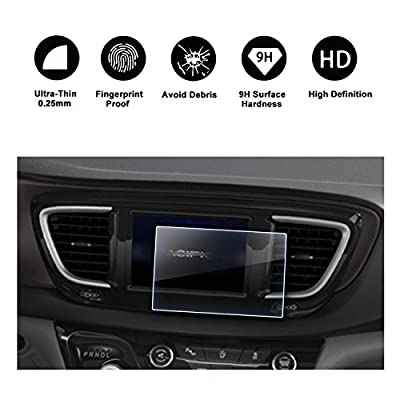 2016 2017 2018 Chrysler Pacifica Uconnect Display Navigation Screen Protector, HD Clear TEMPERED GLASS Screen Guard Shield Scratch-Resistant Ultra HD Extreme Clarity