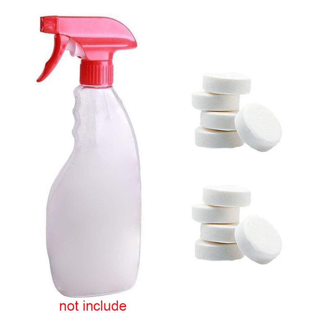 Multifunctional Effervescent Tablets Tulas Car Windshield Glass Clean Washer Tablets Spray Cleaner Concentrate Home Cleaning Tool (40 Pcs)