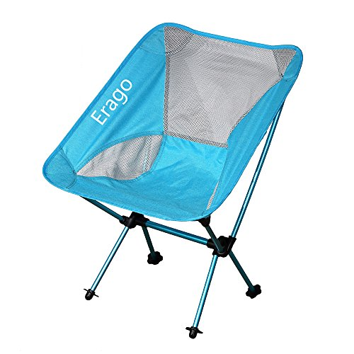 Erago Folding Camping Chair Portable,Backpack and Comfortable,Perfect for Hiking, Camping, Fishing,Beach, Outdoor