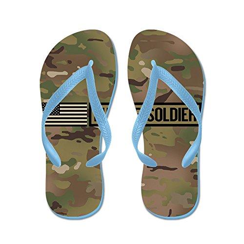 Cafepress Oss Armé: Future Soldier (camo) - Flip Flops, Roliga Rem Sandaler, Strand Sandaler Caribbean Blue