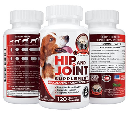 Image of Bark Brothers Hip and Joint Supplement Glucosamine for Dogs, Eases Joint Inflammation, Supports Better Movement, Can Reduce Joint Pain. Anti-inflammatory. 120 Delicious Poultry Chewables