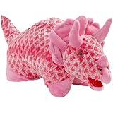 "Pillow Pets Large 18"" Pink Triceratops Dinosaur"