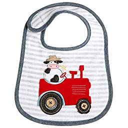 Mud Pie Baby Boys Cow Tractor Bib