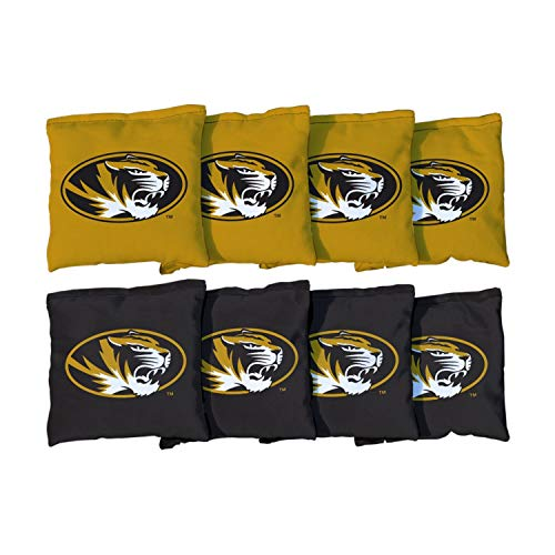 (Victory Tailgate NCAA Collegiate Regulation Cornhole Game Bag Set (8 Bags Included, Corn-Filled) - Missouri Tigers )