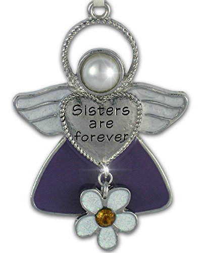 BANBERRY DESIGNS Sisters Christmas Ornament Angel with Flower ()