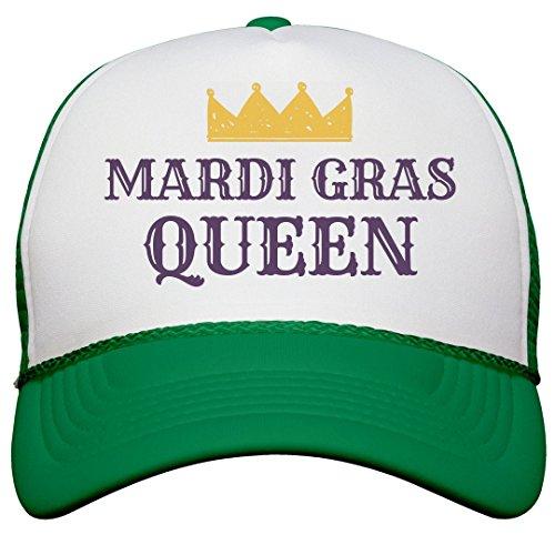 Customized Girl Mardi Gras Queen Hat: Snapback Trucker Hat