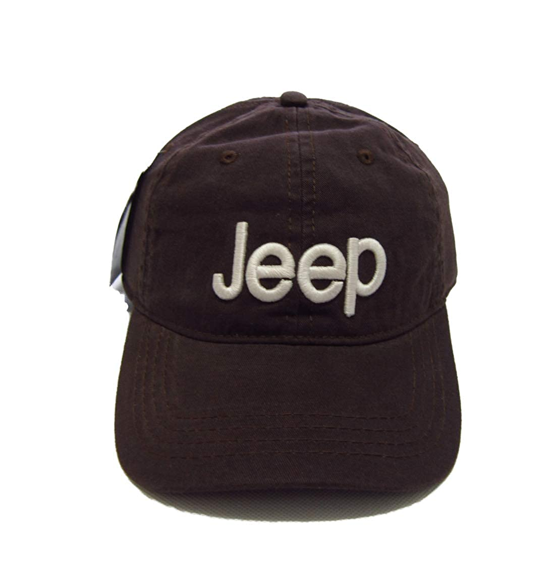Jeep Unisex Solid Color Adjustable Cutton Baseball Cap Outdoor Sunhat with Front Logo