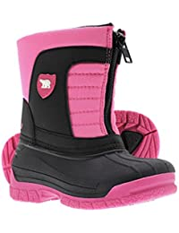Kids Waterproof Insulated Warm Comfortable Durable Easy On/Off Winter Snow Boots (Toddler/Little Kids/Big Kids)