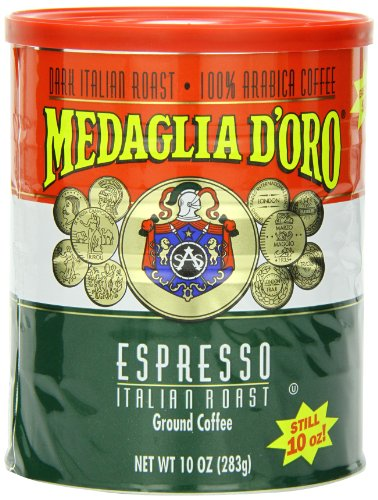 Medaglia D'Oro Italian Roast Espresso Coffee, 10 Ounce (Pack of 12)