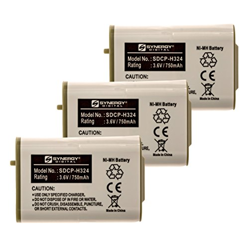 at&T 80-5808-00-00 Cordless Phone Battery Combo-Pack Includes: 3 x SDCP-H324 - 00 Battery Phone Cordless