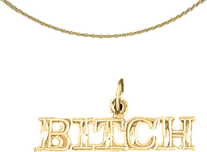 14K Yellow Gold-plated 925 Silver Gloves Pendant with 16 Necklace Jewels Obsession Gloves Necklace