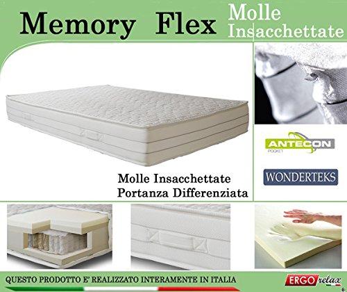 Materasso Memory Mod. Memory Flex con Molle Insacchettate ...