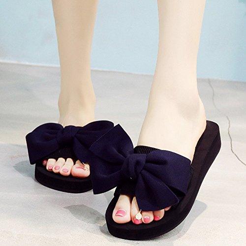 Mujeres Señoras Sandalias Zapatillas de deslizamiento de verano Zapatos planos de playa de arena Zapatillas Cómodo ( Color : 1004 , Tamaño : 37 ) 1004