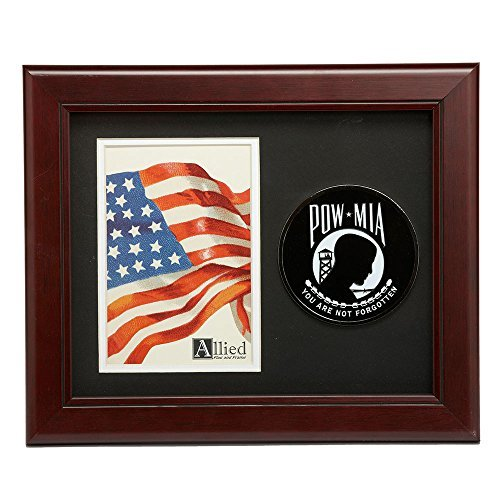 US Flag Store POW/MIA Medallion 4-Inch by 6-Inch Portrait Picture Frame (Medallion Mia)