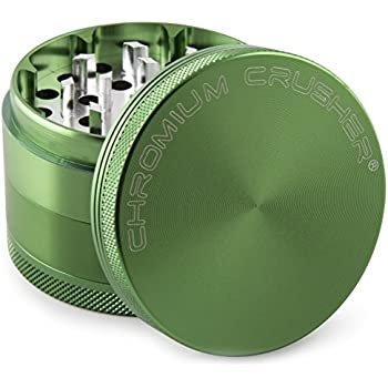Chromium Crusher 1.6 Inch 4 Piece Tobacco Spice Herb Grinder - Green