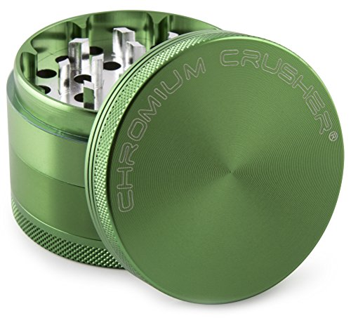 (Chromium Crusher 1.6 Inch 4 Piece Tobacco Spice Herb Grinder - Green)
