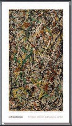 ポスター ジャクソン ポロック Number 3 1949 額装品 アルミ製ベーシックフレーム(ブラック) B071NVJLP9ブラック