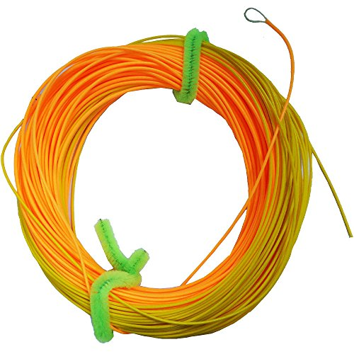 Spey Floating Line - Riverruns 42-50ft Head Wind-Cutter Switch Single Hand Spey Line Long Front Taped Fly Line Ultra Low Stretch Loading Zoom Welded Loops, Floating 90-100ft (WF8F)