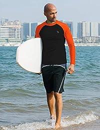 Baleaf   Bañador básico de manga larga para hombre, protección UV, protección solar, para atletismo, UPF 50 +