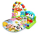 MGQ Baby Music Fitness Rack Newborn Piano Music Pedal Games Blanket Play Crawling Mat Educational Toys for 0-18 Months Baby