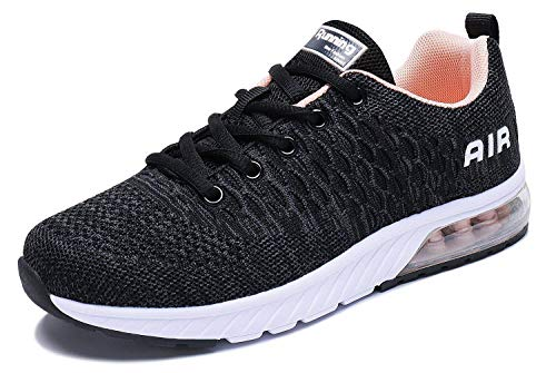 PENGCHENG Men Women Air Cushion Running Shoes Tennis Fitness Gym Lightweight Sneakers Red (Shoes For Standing Long Periods Of Time)