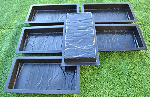Cheap  12PIECE DESIGN CONCRETE MOLDS for PAVING BRICK SLAB patio garden path MOULD#S19
