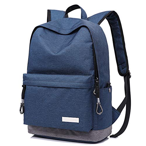 Student Laptop Backpack School Bookbag Ricky-H Lifestyle Light Durable Water Resistant 15.6-Inch Computer Backpack for Women/Men Daypack for Travel/Outdoor/Fits-Navy Blue