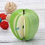 Fruit Memo Pad,SMYTShop Fruit Sticky Notes,Cute Sticky Notes Post it Creative DIY Fruit Memo Pads Kawaii Stickers Paper Korean Stationery Office Papelaria Supplies (Green Apple)