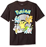 Pokemon Boys Group Youth Short-Sleeved Tee Tearaway Label