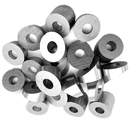 30 Degree Angled Washers, 1/4'' Bore for 1/8'' and 3/16'' End Fittings, Type 316 Marine Grade Stainless Steel, 10 to 100 pcs (50)