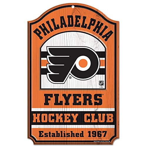 WinCraft NHL Philadelphia Flyers 20753014 Wood Sign, 11