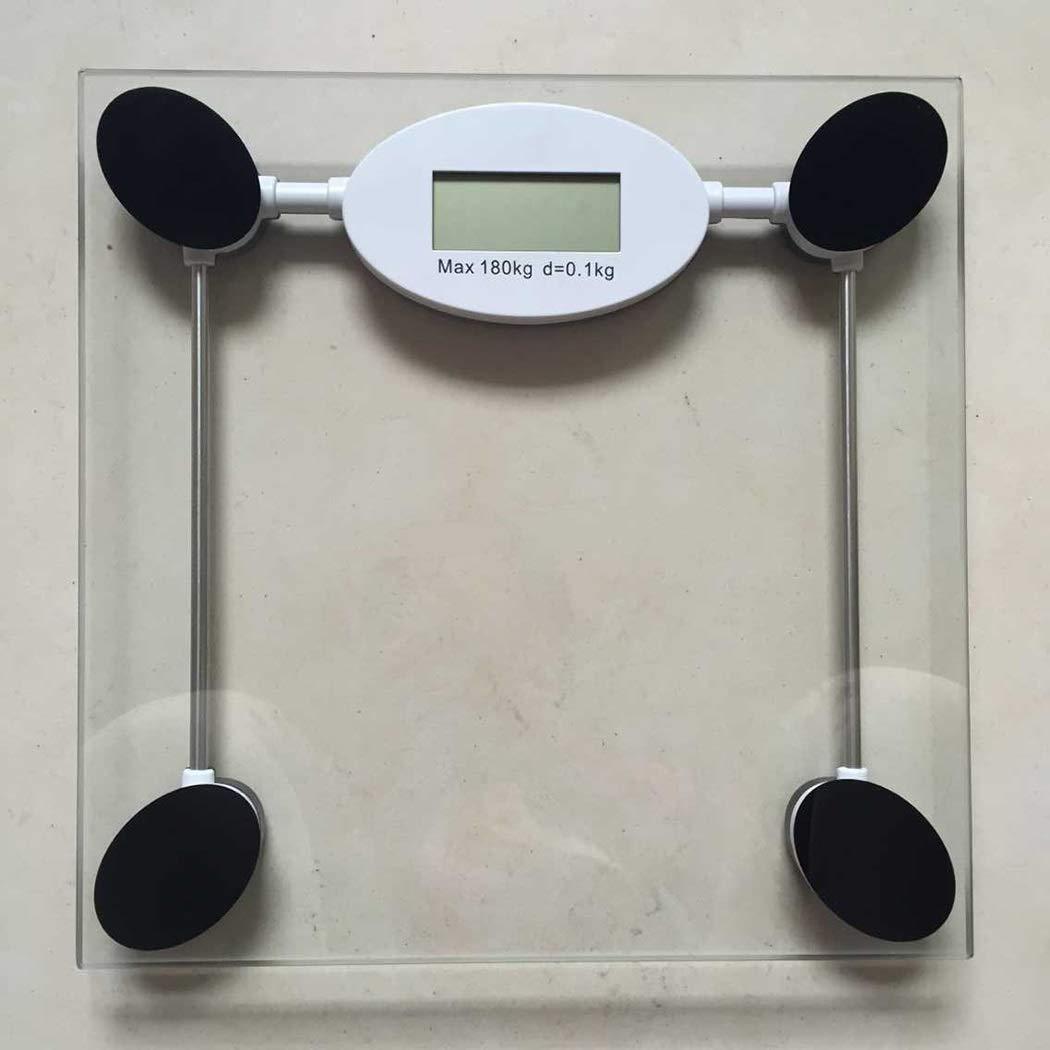 FLy Báscula Electrónica De Vidrio, Escala Humana Cuadrada, Báscula De Baño Cuadrada Balanzas electrónicas (Color : Claro): Amazon.es: Hogar