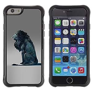 Be-Star único patrón Impacto Shock - Absorción y Anti-Arañazos Funda Carcasa Case Bumper Para Apple iPhone 6(4.7 inches) ( Lion Blue King Abstract Grey King )