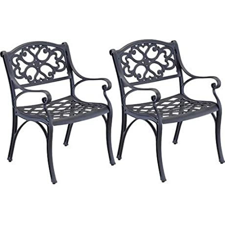 Outdoor Garden Bistro Metal Chairs Set Of 2 UV Resistant Coat Eco Friendly Pair Of Dining Chairs Patio Porch Backyard Furniture Expert Guide Black