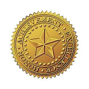 Amazon Com Star Foil Seals Achievement Honor
