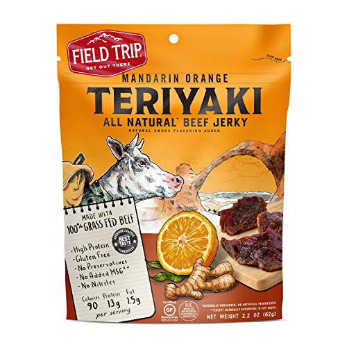 Field Trip All Natural Grass-Fed Beef Jerky, Teriyaki, 2.2 Ounce
