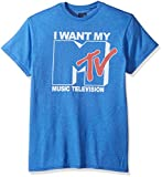 MTV Men's Want Logo T-Shirt, Premium Royal Heather, 3XL