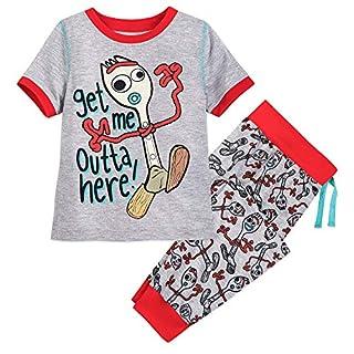 Disney Forky Pajama Set for Boys - Toy Story 4 Size 5/6 Multi