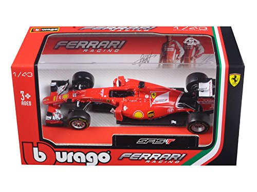 2015 Ferrari Racing Formula 1 SF15 F1 Sebastian Vettel #5 1/43 Diecast Model Car by Bburago - Ferrari Models F1