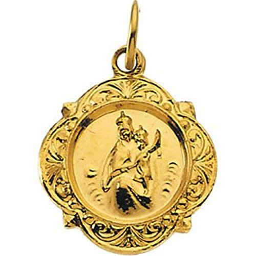14K Yellow Gold Scapular Medal 14k Yellow Gold Scapular Medal