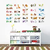 Decowall,DA-1308L,Large Alphabet Animals peel & stick Nursery wall decals stickers